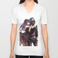tokyo ghoul V-neck T-shirts featuring kankei tokyo ghoul by Lee Chao Charlie Vang