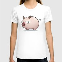 pig T-shirts featuring Pig by Oinkasaurus