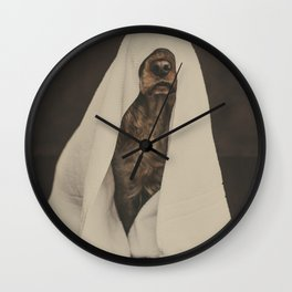 No more showers - Beautiful dog fine art work with a funny twist Wall Clock