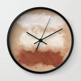 Rothko Inspired Spiced Berry Canyon Dusk 001 Mixed Stripe Modern Art Comforter Pillow #society6 Wall Clock