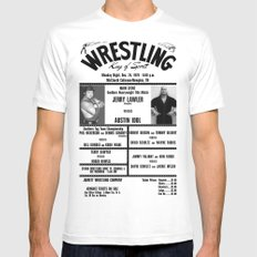 #5 Memphis Wrestling Window Card White SMALL Mens Fitted Tee