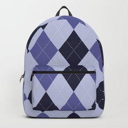 Blue Argyle Pattern Backpack