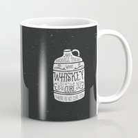whiskey Mugs featuring WHISKEY by magdam