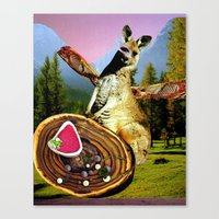 vegetarian Canvas Prints featuring Vegetarian  by Stephie B