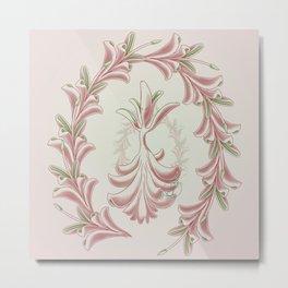 Succulent Sprite - ruby glow Metal Print