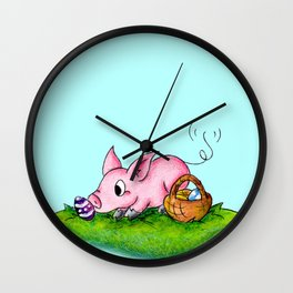 Egg Hunter Wall Clock