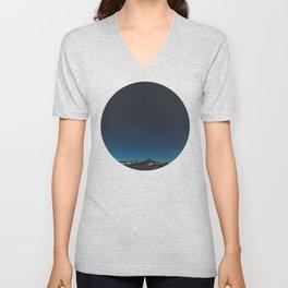 Mountain Against Beautiful Ombre Blue Sky & Star Sky Unisex V-Neck