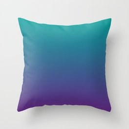 Ombre | Teal and Purple Throw Pillow