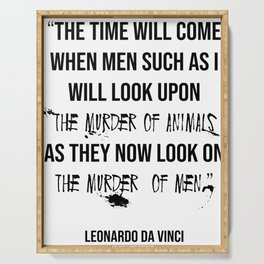 Leonardo Da Vinci Animal Rights Quote Serving Tray