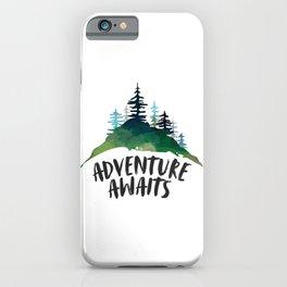 Adventure Awaits, Motivational Quote, Arrow Print, Gift Idea, Printable Art iPhone Case