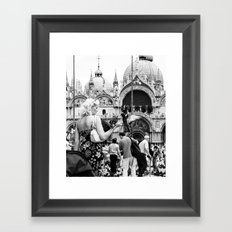 Birds of a Feather - St. Marks Square Italy Framed Art Print