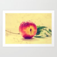 peach Art Prints featuring Peach  by Tanja Riedel