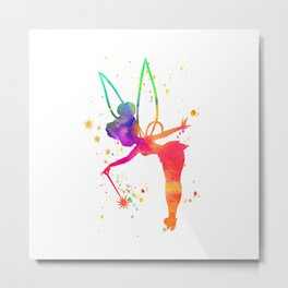 Tink Watercolor Metal Print
