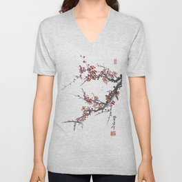 Cherry Blossom One Unisex V-Neck