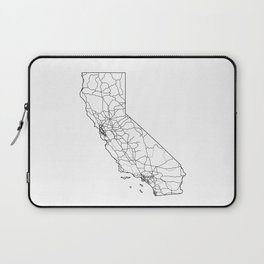 California White Map Laptop Sleeve