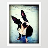 boston Art Prints featuring Boston by C Liza B