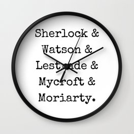 Guys of Sherlock Wall Clock