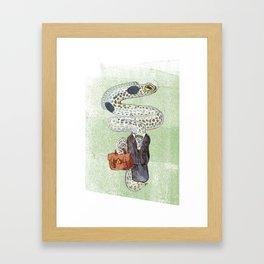 Eel Accountant Framed Art Print