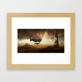 Endless Journey - steampunk artwork Framed Art Print