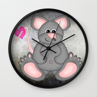 mouse Wall Clocks featuring Mouse by Digital-Art