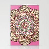islam Stationery Cards featuring Pink Mandala by Mantra Mandala