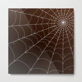 Spiderweb on Spice Metal Print