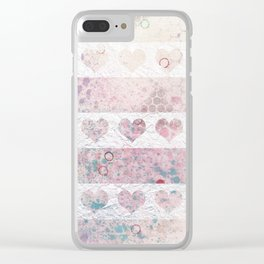 Heart rows Clear iPhone Case