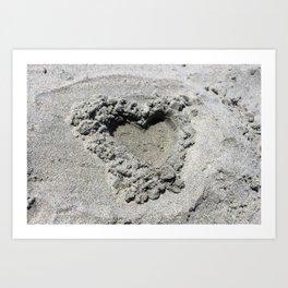 Grainy Heart Art Print