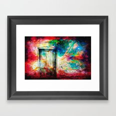 What Lies Beyond the Door Framed Art Print