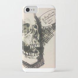 Inktober skull iPhone Case