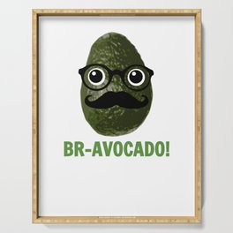 Br avocado Cute Avocado Pun Serving Tray