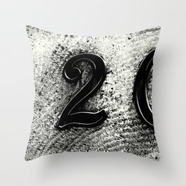 120 Numbers Throw Pillow