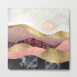 Blush Sun Metal Print