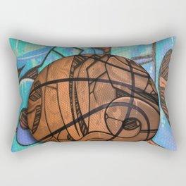 Basketball Graffiti Team Sports Design Rectangular Pillow