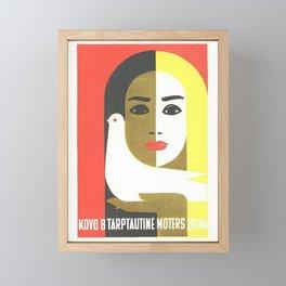 Vintage Russian Poster, USSR Soviet Union International Women's Day by Juozas Galkus 1968 Framed Mini Art Print