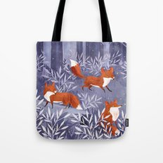 Foxes and Fireflies Tote Bag