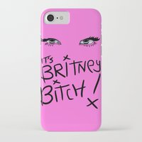 britney spears iPhone & iPod Cases featuring Britney Spears Eyes by Alli Vanes