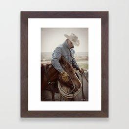 Cowboy Affection Framed Art Print