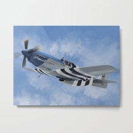 """P-51 Mustang """"Princess Elizabeth"""" Metal Print"""