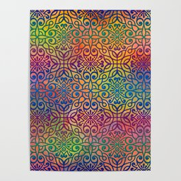 DP050-1 Colorful Moroccan pattern Poster