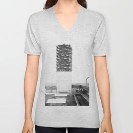 Architecture of Impossible_Spread Pavia Unisex V-Neck