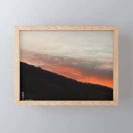 Fiery sky over the mountain Framed Mini Art Print