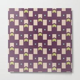 Art Deco Geometric Pattern 273 Metal Print