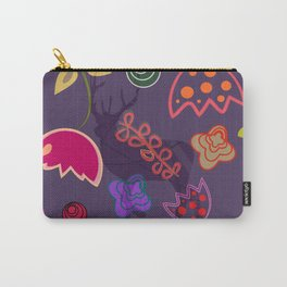 Deer and flower 6 Carry-All Pouch