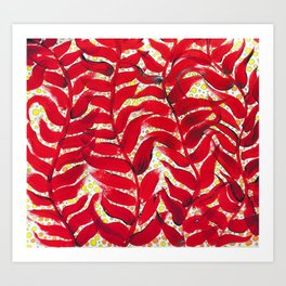 Abstract Painting Leaf Leaves Plant Nature Art Print