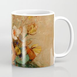 "Odilon Redon ""Wildflowers in a Long Necked Vase"" Coffee Mug"