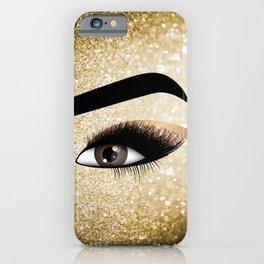 Gold Lashes Eye iPhone Case