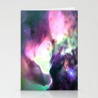 nebula Stationery Cards featuring Pastel nebULa by 2sweet4words Designs