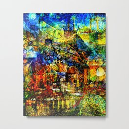 Vincent van Gogh - The Town Metal Print
