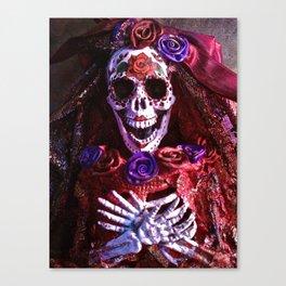Red Catrina Canvas Print